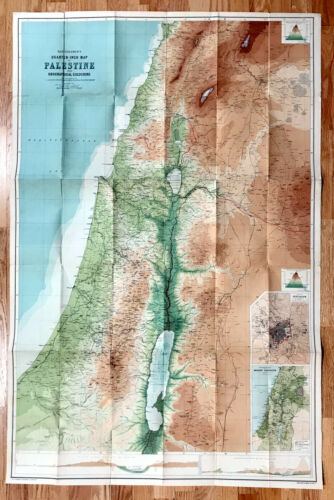 LARGE PALESTINE MAP. c. 1930.