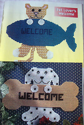 ''PET LOVERS WELCOME'' ~*~PLASTIC  CANVAS PATTERN ~*~ J