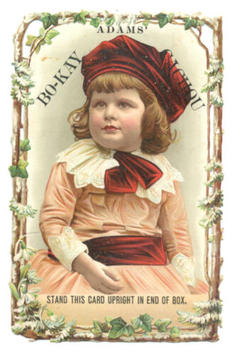 Adams Chewing Gum  Bo-Kay and Cachou - display trade card
