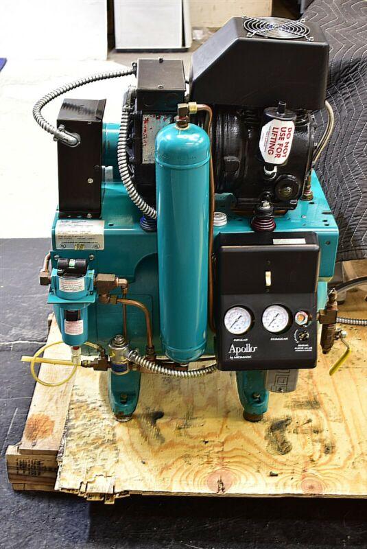 ADP Apollo L21 Dental Air Compressor 115V 70 Decibels Oiled Single Motor