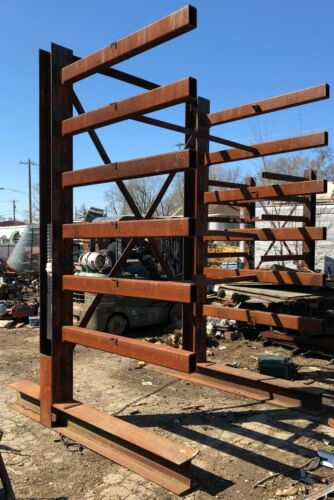"""Cantilever Rack Extreme Heavy Duty 8 1/2 Inch Main Beams 129"""" Tall"""