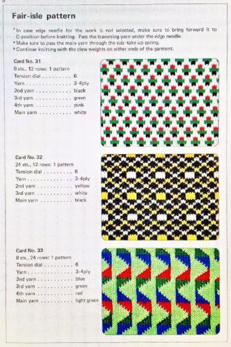 Brother ORIGINAL KHC PUNCHCARD SET *NEW* f/ Single Bed Color Changer - 10 Cards