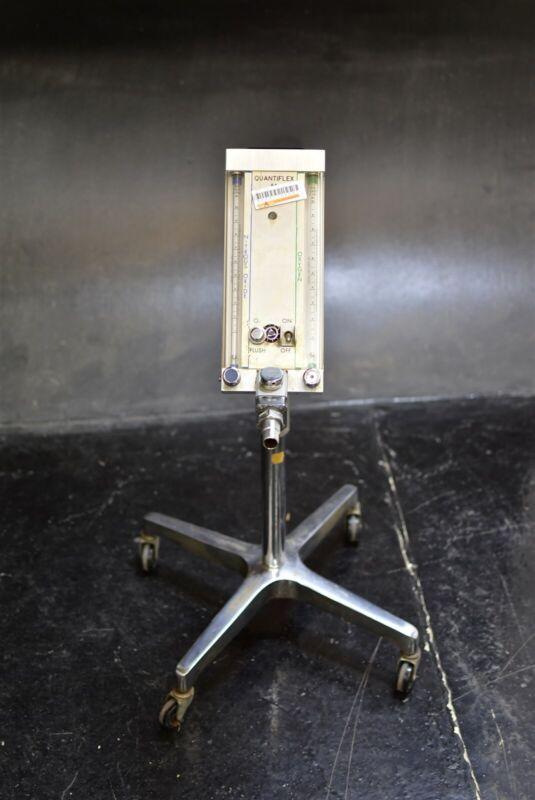 Quantiflex Ra Dental Nitrous Unit Flowmeter N2O Conscious Sedation Cart