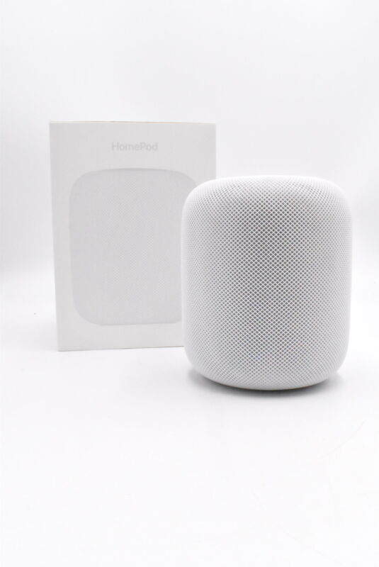 Apple HomePod - MQHV2LL/A Voice Enabled Speaker - White, Good Condition