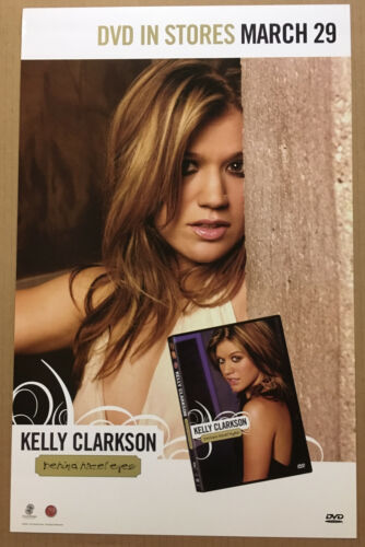 American Idol KELLY CLARKSON Rare 2005 PROMO THICK STOCK POSTER 4 Behind DVD CD