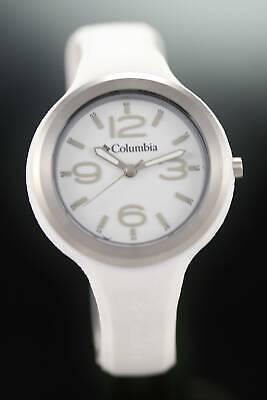 Columbia Escapade Weiß Damen 50m Analog Silikon Quarz Sport Armbanduhr