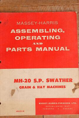 Oem Massey Harris Mh-20 Sp Swather Grain Hay Machines Manual 690-270 M1