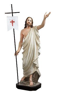 A cm 110 estatuo a jesus Ressurgida resina olhos Cristallo Di de