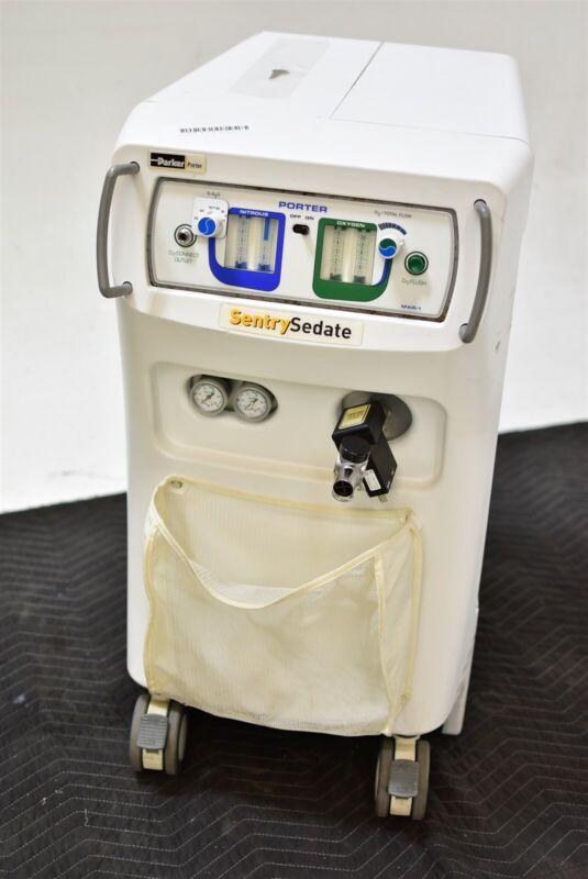 Parker Porter Sentry Sedate Dental Nitrous N2O Flowmeter Conscious Sedation Unit