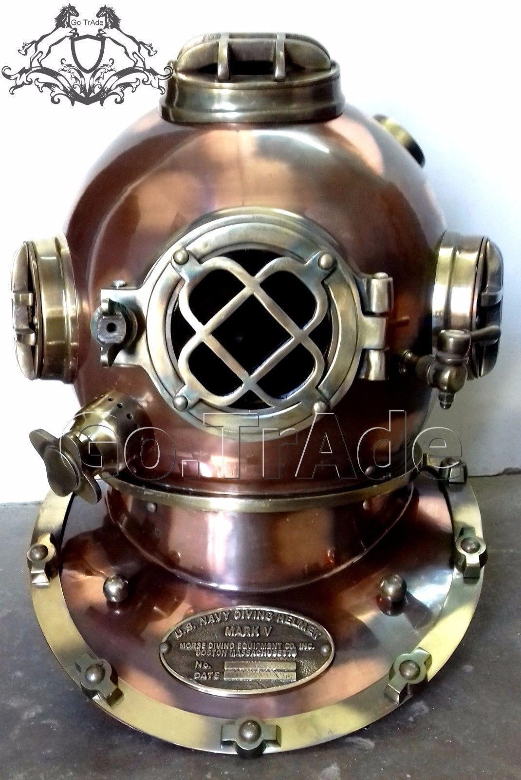 Vintage Diving Helmet Antique Scuba U.S Navy Mark V Scuba Divers Helmet Gift