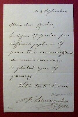 1848 FELIX Fürst zu SCHWARZENBERG - eigh. Brief Ministerpräsident Oesterreich