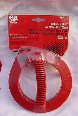 Gardner Bender 25 Ft Cable Snake Steel Fish Tape Electrician Wiring Electrical
