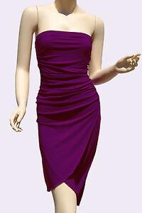 Strapless-Dresses-Party-Cocktail-Womens-Style-Clubwear-Purple-Mini-Dress-S-M-L