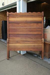 old antique solid wood 3 piece furniture bedroom set 1 bed