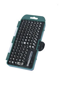 Mannesmann Screwdriver Bit Set 100 pcs. Torx Hexagon Incl. Adapter VPA GS TUV