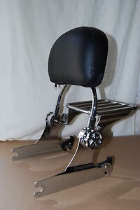 2013 Adjustable Detachable Backrest Sissy Bar For Harley Softail 2000-2006