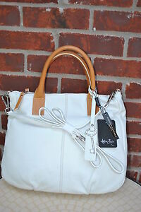NEW-AMBER-ROSE-HANDBAG-Italy-Genuine-Leather-White-HOBO-230