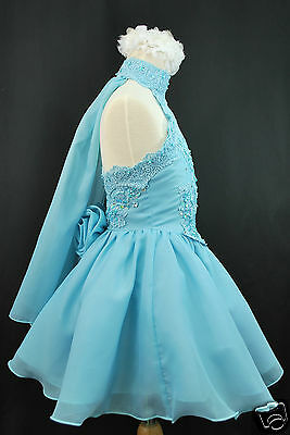 Infant Toddler & Girl Pageant Flower Girl Formal Dress Light Blue 1 2 3 4 5 6 7