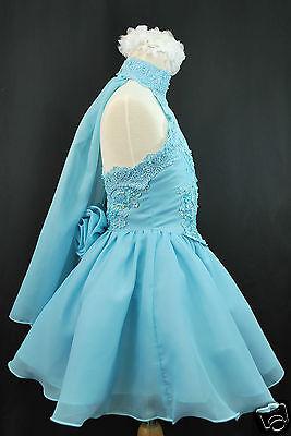 Infant Toddler & Girl Pageant Flower Girl Formal Dress Light Blue 1 2 3 4 5 6 7