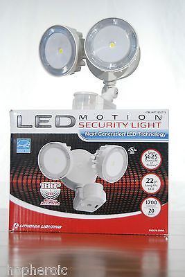 Lithonia Lighting LED Motion Detector Security Floodlight 2 Way Adjustable Heads on Rummage