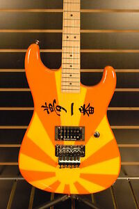 Charvel Custom San Dimas Rising Sun Golden Sunset Guitar