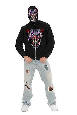 Evil Clown Hoodie hi Ya Roy Scary Adult Medium Funhalloween Costume-