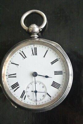 SILVER POCKET WATCH NO NAME VINTAGE KEY WIND STAMPED 0.935 125 YEARS OLD PLUS