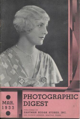 Photographic Digest Eastman Kodak March 1933