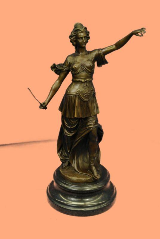 Blind Justice Law Lady Scale Bronze Sculpture Figurine Statue Hot cast Sculpture