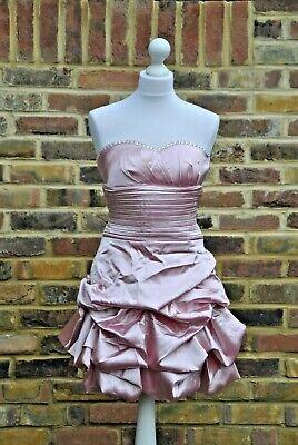 New chi chi London style 3120 teen dress dusky pink size UK...