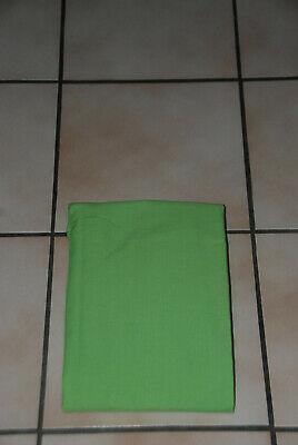 Drap housse de matelas vert vif 190cm x 90cm pour lit 1 personne NEUF !