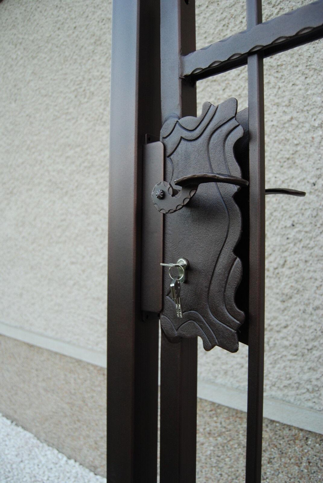 schmiedeeisernes gartentor pforte schmiedetor eingangstor kupfer rost eur 420 00 picclick de. Black Bedroom Furniture Sets. Home Design Ideas