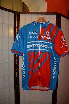 Motorola Volvo Caloi Giordana retro vintage cycling jersey XXL . ALY
