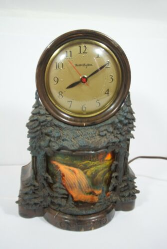 VTG  Waterfall clock electric WORKS Master Crafters Model USA trees