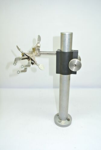 Newport Model 45 Optical Support Rod Post w/ Fisher 3-Prong Castalloy Clamp