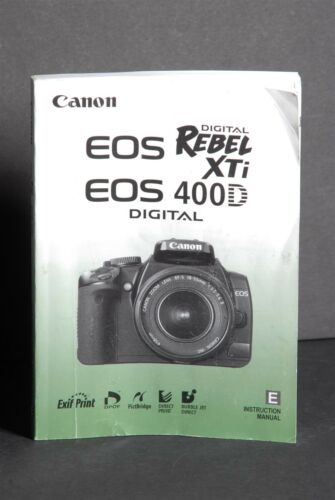 canon genuine eos 400d xti digital camera instruction book rh bayshop com canon eos 400d instruction manual pdf eos 400d user manual