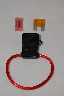 Waterproof 40a Fuse Holder - 8 Gauge MAXI Inline Fuse Holder Waterproof Cover w/ 40A Fuse and Butt Connectors