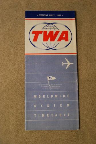 TWA System Timetable - June 1, 1963