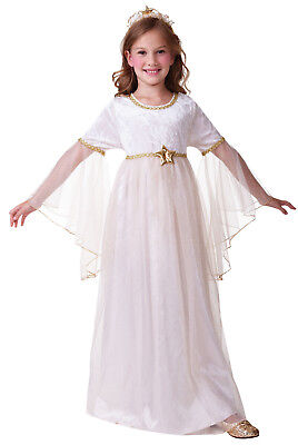 Christmas Costum (Angel Angle Long Sleeves Christmas Xmas Fancy Dress Costume Outfit Age 4-12)