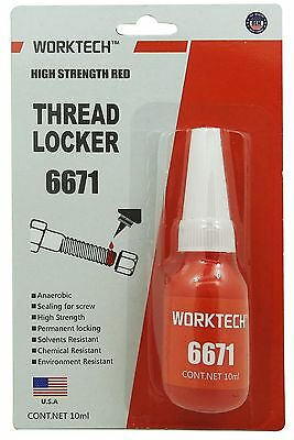 Worktech Premium Thread Locker Red - High Strength Boltnut Professional Class