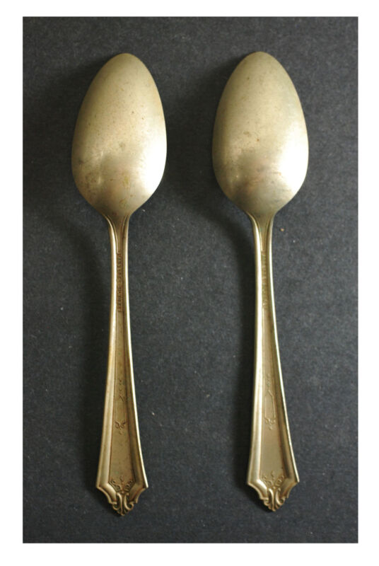 """Vintage Silver Plate 6"""" Tea Spoons  Made By Annette Silvore Lot of 2."""