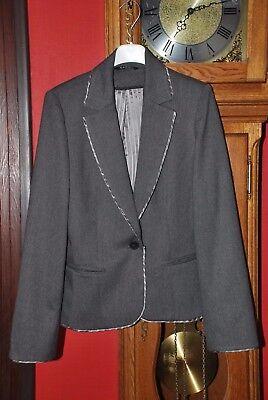 """Veste de tailleur Blazer de marque""""CAROLL""""gris foncé Taille 36 comme NEUVE!!"""