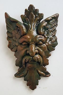 "Michelangelo's Art ""Florentine Man"" Wall Sculpture Green Man Plaque"