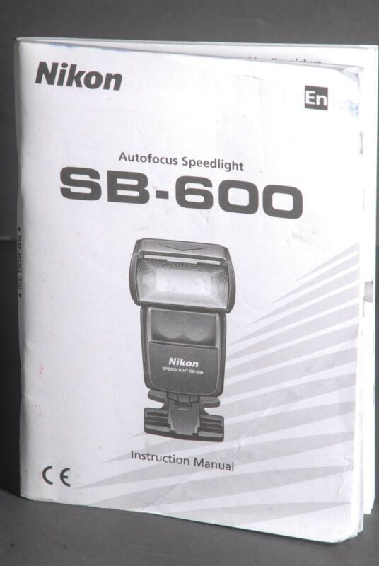 Nikon SB-600 Speedlight Instruction Book / Manual / User Guide