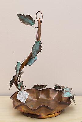 Brand-New Made-in-the-USA Bird Feeder/Bath by Derel Latta of Creative Copper