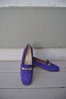 SORE FONTANA DI TREV DESIGNER SHOES  Purple Suede Made in Italy Size 37  6.5 -