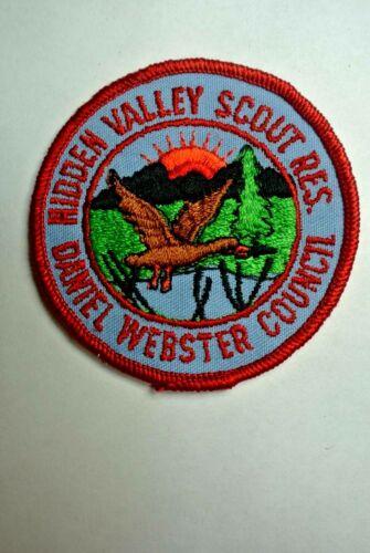 Hidden Valley Scout Reservation Daniel Webster Council Pocket Patch - BSA - MINT