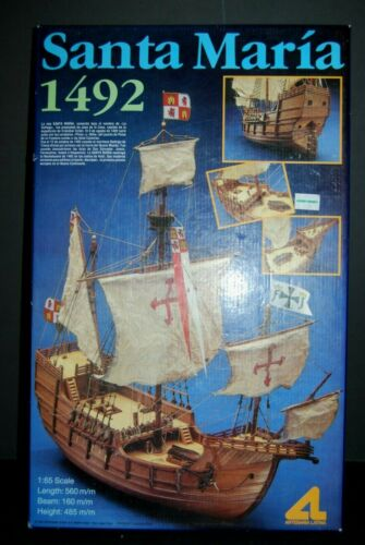 Santa Maria Tall Ship  1:65 Scale Model ALL Wood Quality  SPAIN