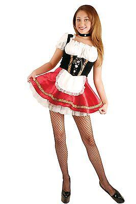 New Beer Garden Girl Black & Red Costume Charades Oktoberfest 01815 Costumania - Beer Garden Girl