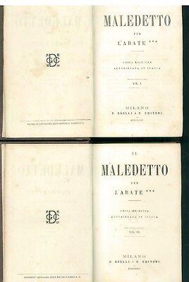 MICHON JEAN-HYPPOLITE L'ABATE *** IL MALEDETTO DAELLI 1864 6 VOLL PRIMA EDIZIONE